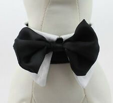 Dog bow tie collar for large dogs, necktie formal bow tie comes in white or  red