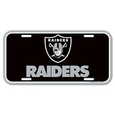 "OAKLAND RAIDERS 6""x12"" OFFICIAL LOGO LICENSE PLATE CAR BRAND NEW WINCRAFT"