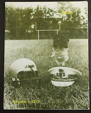 1977 Sidney High School Football Program Yellow Jackets Advertisements Roster
