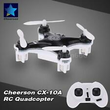Cheerson CX-10A 2.4GHz 4CH RC Quadcopter NANO Drone Headless Mode BLACK 46EE