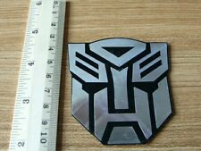Transformers Autobots hard plastic metallic car sticker black