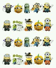 Halloween Nail Decals (water decals) Minion nail decals