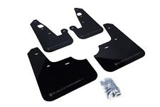 Rally Armor Mud Flaps Guards for 08-15 Lancer & Ralliart (Black w/Grey Logo)