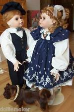 """RARE LIFE SIZE TWINS 28""""  JODIE & JESSIE VICKIE WALKER DOLLS NRFB #2 OF ONLY 50"""