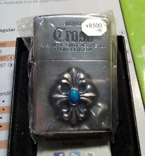 ZIPPO JAPANESE Turquoise Cross  Limit Edition Model Zippo Silver RARE.COLLECTABL