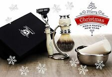 5 Pieces Men's Shaving Set With Mach 3 Razor.Gift For Him This Christmas