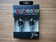 Crank Brothers Eggbeater 1 Clipless Bicycle Pedals Black/Silver No Cleats New