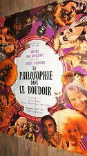 LA PHILOSOPHIE DANS LE BOUDOIR  ! affiche cinemaerotique vintage 1969