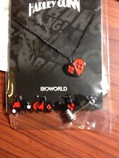 New DC Comics Harley Quinn Bat Logo's & Mallet Interchangeable Charm Necklace