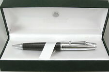 Monteverde Invincia Carbon Fiber & Chrome Cap Ballpoint Pen - New - 50%+ OFF