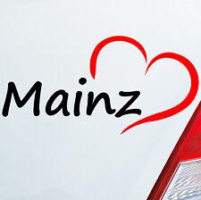 Pegatinas De Coches Mainz aprox. 16x8cm Corazón Ciudad Hogar Amor 686