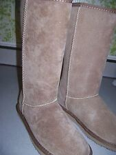 LAMO 12 Inch Suede-Faux Fur  Lined Boots New in Box Womans Size 8 M EW1472