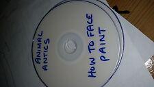 Animal Antics cómo pintura de la cara DVD paso a paso guía de aprendizaje 40 minutos Funcionamiento