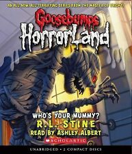 Goosebumps HorrorLand:Who's Your Mummy? #6 by R.L. Stine(audiobook-2 DS)BRND NW!