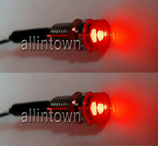 Red Dash LED Indicator Lights Interior Pilot Warning Custom Hot Rod Boat Bulbs