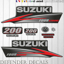Suzuki 200 hp Four Stroke outboard engine decal sticker set kit reproduction