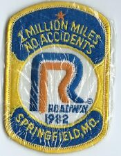 Roadway 1982 Springfield MO 1 million miles no accident driver patch 4-1/8X2-5/8