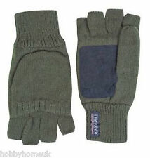 Jack Pyke Mitts Mittens Gloves Green Thermal Thinsulate Suede Palm Shooting Hide