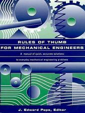Rules of Thumb for Mechanical Engineers, J. Edward Pope, Good Book