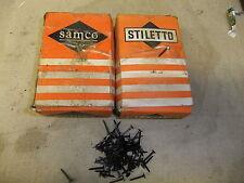 "Tappezzeria scanalate BlueD BULLETTE chiodi 5/8 "" 15mm 1ib / 500gm BOX STILETTO / Samco"