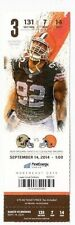 2014 CLEVELAND BROWNS VS NO SAINTS TICKET STUB 9/14 JOHNNIE MANZIEL DEBUT