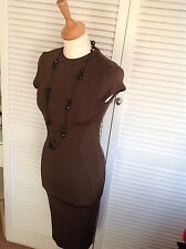 H&M KHAKI FIGURE FIT DRESS****SIZE M******