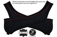 Red stitching 2X b pilier daim couvre pour corvette C6 Z06 2005-2014