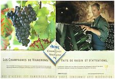 Publicité Advertising 2005 (2 pages) Les Champagnes de Vignerons