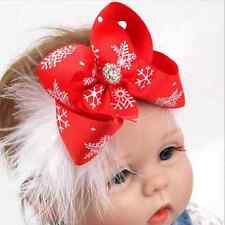 Kids Girl Baby Toddler Christmas Flower Headband Hair Band Accessories Headwear