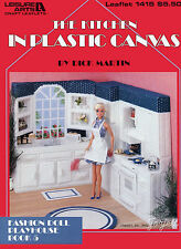 The Kitchen Playhouse Book 5 plastic canvas patterns fit Barbie fashion dolls