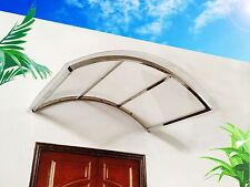 """Arch Contemporary Style Poly-carbonate Awning for Doors and Windows (31.5""""X48"""")"""