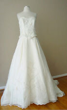 CHRISTINA WU BEAD SEQUIN EMBROIDERED FORMAL CORSET STRAPLESS WEDDING DRESS GOWN