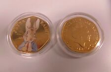 BEATRIX POTTER PETER RABBIT PRINTED 50p COIN (UNCIRCULATED)