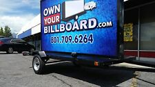 6'x10' BILLBOARD TRAILER WITH LED ARROW SIGN MULTICOLOR WITH VINYL BANNERS