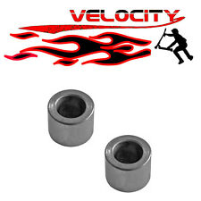 2 X STUNT SCOOTER ROLLER SKATE SKATEBOARD WHEELS AXLE SPACERS 8MM CLAMP FORK