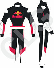 kart racing suit New Design  Black,Red and White Redbull logo embriodery CLG