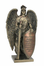 "13.25"" Take Up The Shield of Faith Warrior Angel Statue Sculpture Religious"