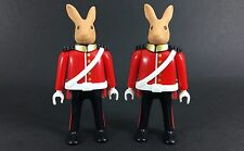 playmobil 4577 royal guards X2 figures rare lot custom toys play bid Rabbit Bid