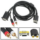 VGA High Definition Cable Wire RCA Sound Adapter Box PAL NTSC For SEGA Dreamcast
