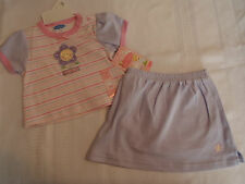 Bon Bebe Girls 6-9 Month Striped Shirt Lavender Skort Outfit NWT