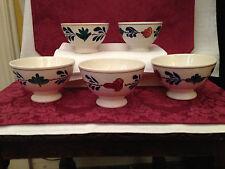 5 Schalen Milchkaffeeschalen antik Boch Belgien Royal Shpinx