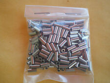 50 NICKEL WIRE LEADER CRIMP SLEEVES GOOD FOR 20,30,40,60 LBS TEST #30L .069 ID.
