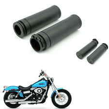 "Motor Rubber HandleBar Hand Grips 1"" for Harley twin cable throttle Sportster"
