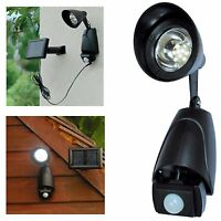 Solar Powered 9 LED PIR Motion Sensor Security Garden Outdoor Light Porch Shed