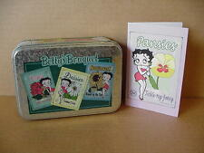 Betty Boop NOTE CARD GIFT SET GARDEN DESIGN