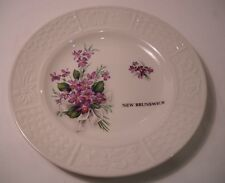 New Brunswick Canada Souvenir Plate - Made in England - Vtg Porcelain (P16)