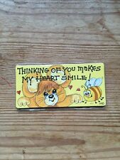 """New Fridge Magnet by Smiley Signs """"Thinking Of You Makes My Heart Smile!"""""""
