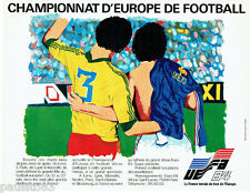PUBLICITE ADVERTISING 056  1984  Euro 84 championnat d'Europe de football UEFA