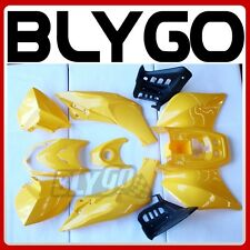 YELLOW Plastics Fairing Fender Guards Cover Kit 125cc TIGER Quad Dirt Bike ATV