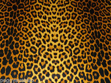 "Leather 8""x10"" OCHRE Large Cheetah / Leopard Print Cowhide NOT Hair-On 2-2.5 oz"